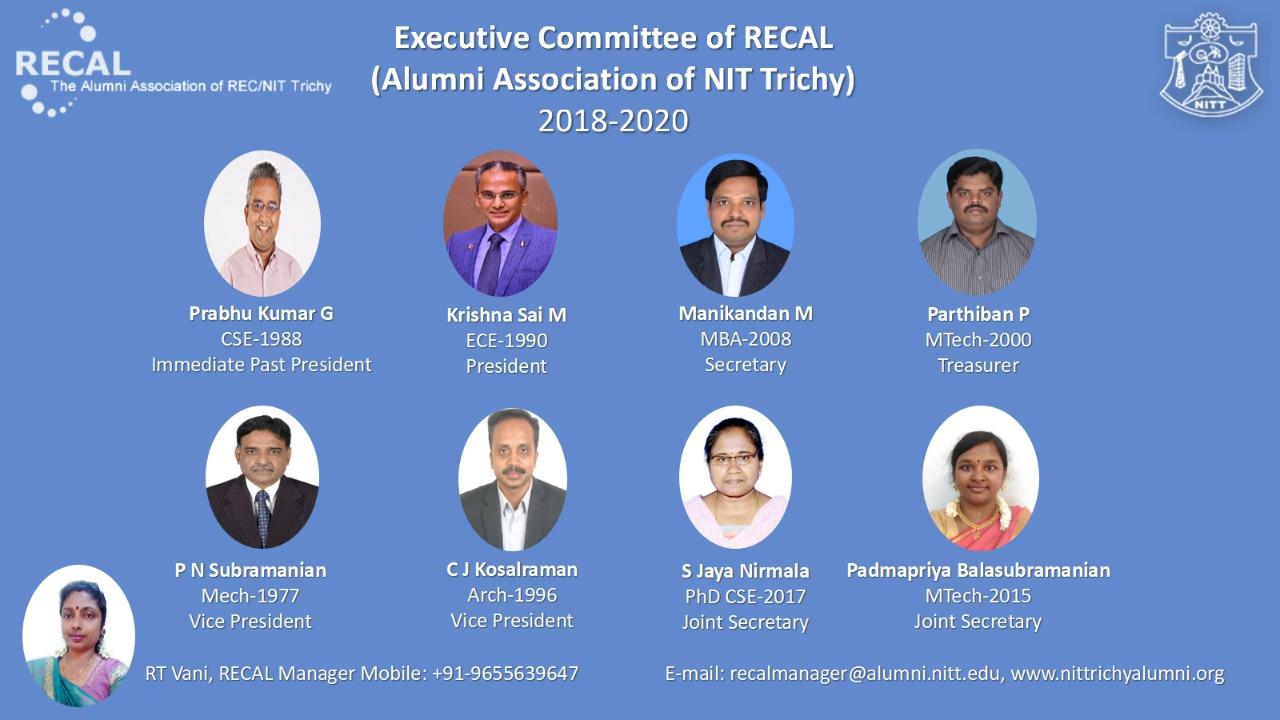 Exec. Committee - Recal 2018-20