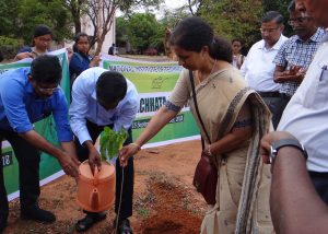 Planting tree during Swachhta Pakhwada
